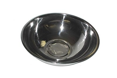 58-20          Stainless Steel 3 Quart - 9 1/2 Inch X 3 1/2 Inch Mixing Bowl
