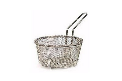 51-161                  8- 3/4 Inch Nickle Wire Mesh Basket With Loop