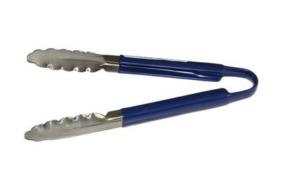 64-50              9 Inch Blue Cool Handle Tongs