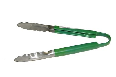 64-70               9 Inch Green Cool Handle Tongs