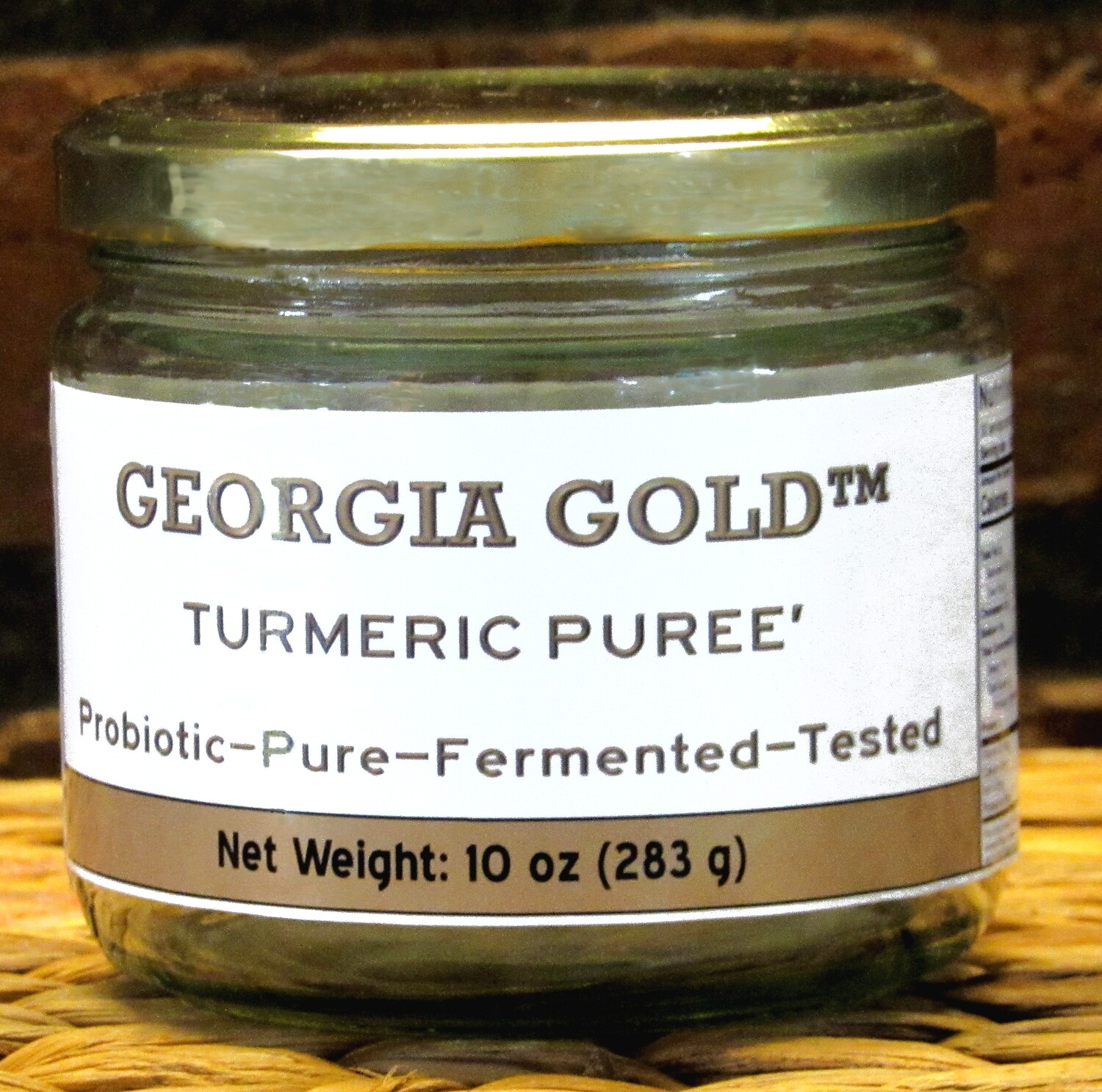 "Georgia Gold Probiotic Turmeric Puree'-  ""The Original"" - now in 10 oz glass jars - Refrigerates for months - FREE SHIPPING"