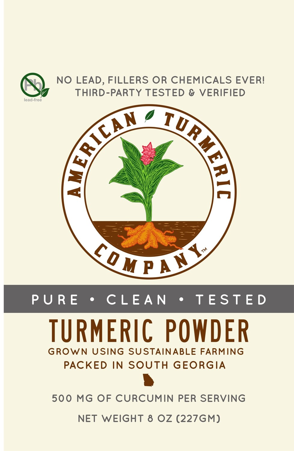 American Turmeric Powder - Certified Clean and No Lead - Lab Results Included - 1/2 pound.