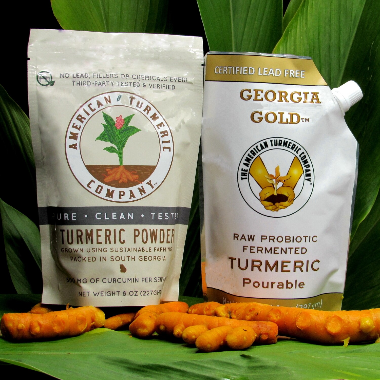 COMBO SPECIAL -Georgia Gold Pourable Probiotic Turmeric and Turmeric Powder - Now with Discounts - SAVE BIG