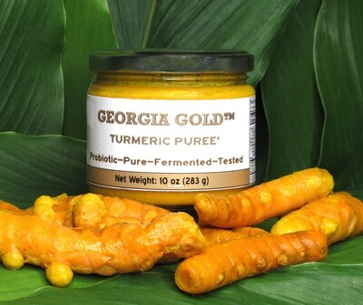 Raw Fermented Probiotic Turmeric Puree'- 10 oz glass jars. Now with Discounts - SAVE BIG!
