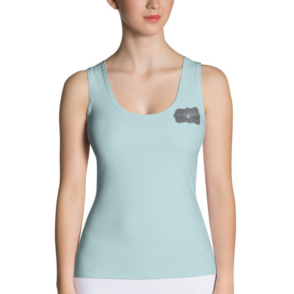 MM Blu Tank Top with Mighty Mamas Logo on the back