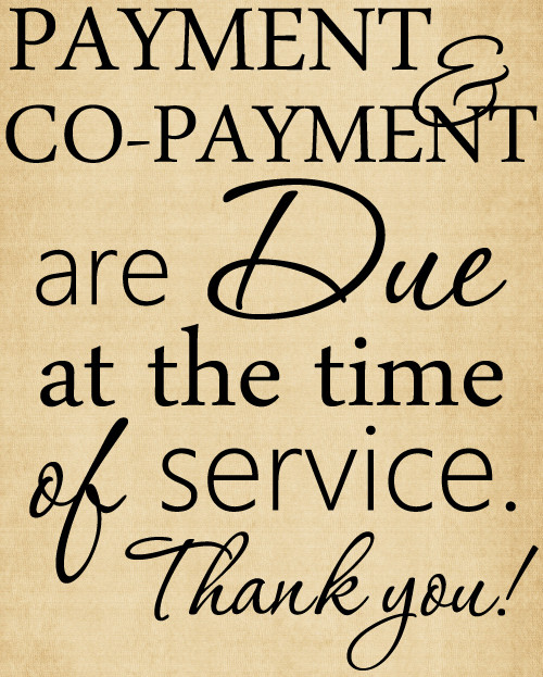 CHI027 Payment and Co-payment