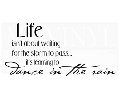 L002 Life isn't about waiting for the storm to pass