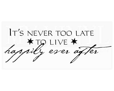 LO003 It's never too late to live happily ever after