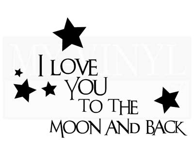 CT027 I love you to the moon and back