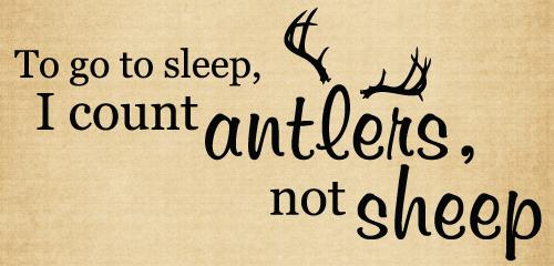BM072 To go to sleep I count antlers farmhouse decor vinyl stickers