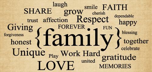 BM102 Family Collage wall stickers