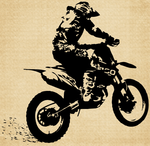 IM010 Dirt Bike Side View