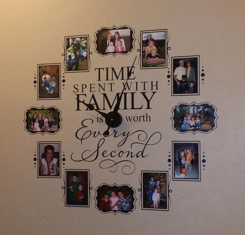 CL205 Family Photo Vinyl Wall Clock