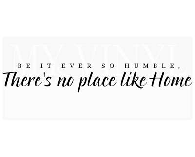 EN007 Be it ever so humble, there's no place like home