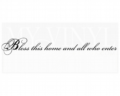 EN010 Bless this home and all who enter