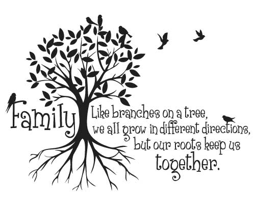 KW019 Family like branches on a tree