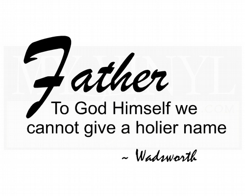 FA020  Father to God Himself we cannot give a holier name