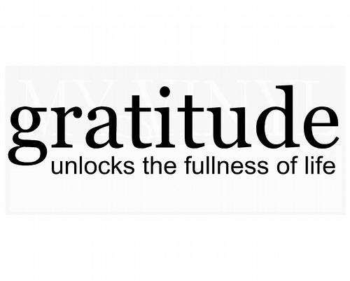G001 Gratitude unlocks the fullness of life