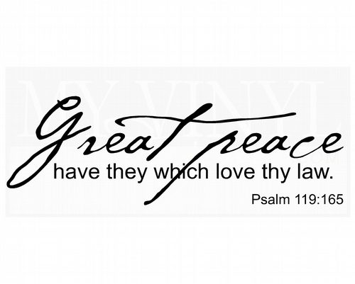 C005 Great peace have they which love thy law