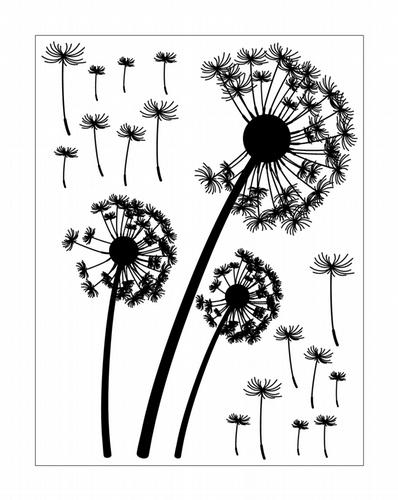 EM102 Dandelions vinyl graphics