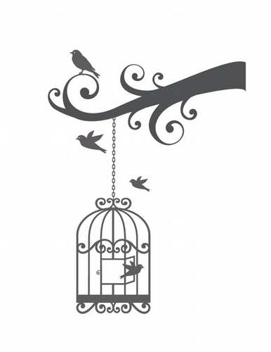 BC319 Swirly Bird Cage