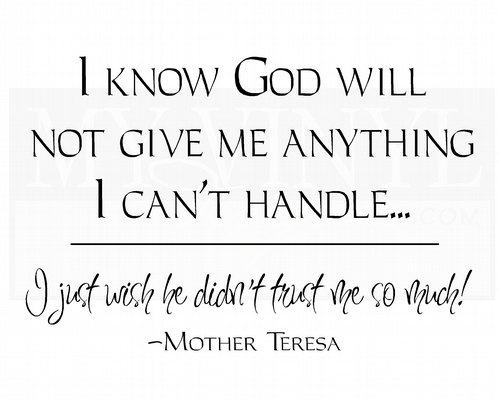 L019 I know God will not give me anything I can't handle
