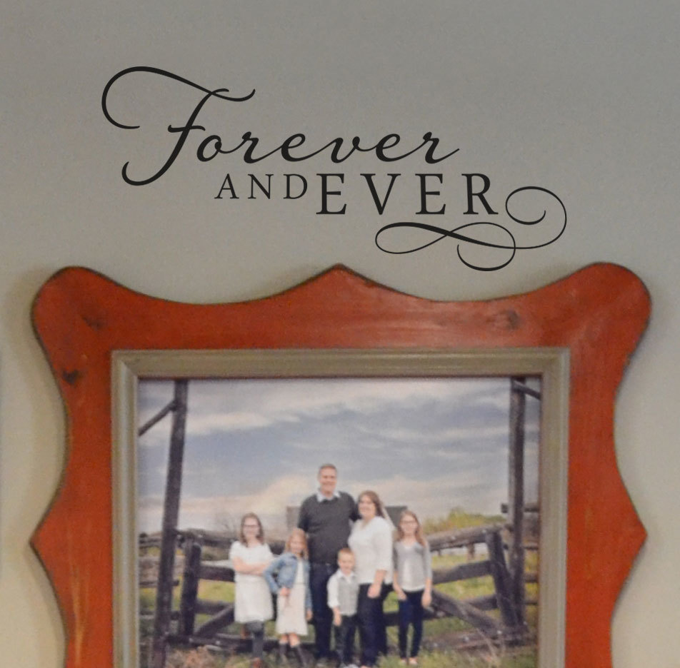 CLEARANCE Forever and ever 14 x 6 black vinyl graphics