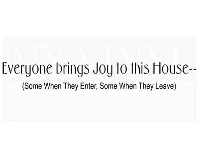 EN004 Everyone brings joy to this house--