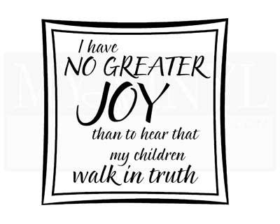 C004 I have no greater joy