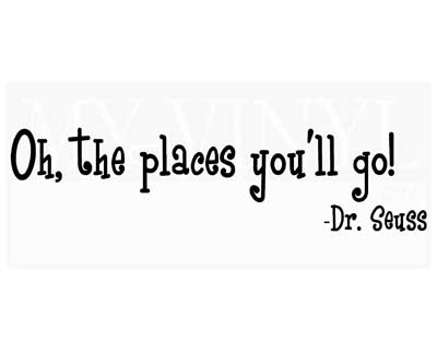 Oh, the places you'll go! B004
