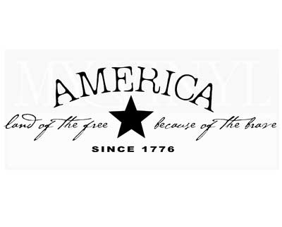 PA002 America land of the free because of the brave