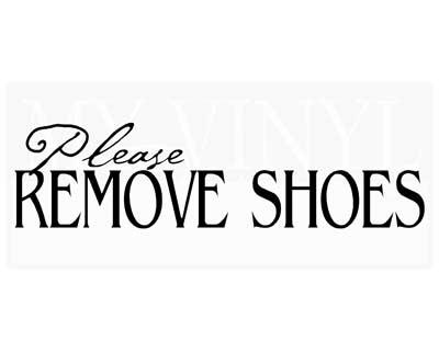 EN011 Please remove shoes