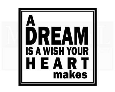 CT003 A dream is a wish your heart makes