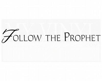 CL026 Follow the Prophet