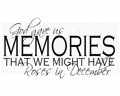 PW008 God gave us memories that we might have roses in December