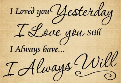 BM058 I loved you yesterday vinyl sticker home decor