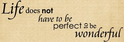 DOC121 Life does not have to be perfect