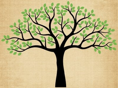 TR027 Wide Family Tree 2 Colors