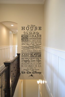 In this house we do Disney wall decal home decor sticker BM544