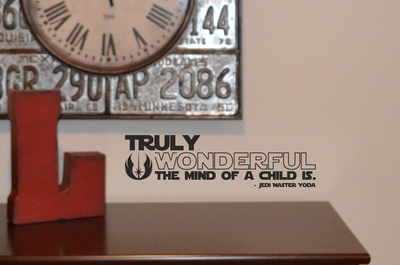 Truly wonderful the mind of a child is wall decal sticker AC147
