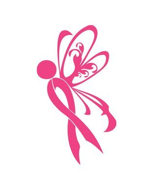 Breast cancer awareness ribbon butterfly decal sticker IM032