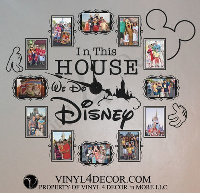 In this house... We do Disney decal wall clock CL333