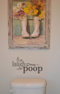 Live laugh poop bathroom wall decal sticker BM503
