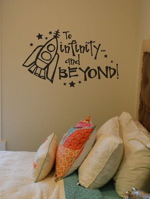 To infinity... and beyond! Disney decal wall vinyl sticker KW186