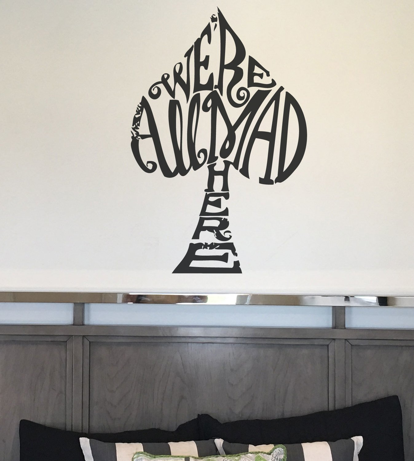 We're all mad here Alice in wonderland decal wall sticker CT201