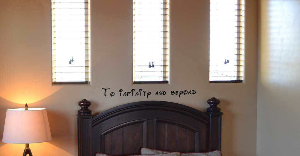 To infinity and beyond Disney decal wall sticker BC693
