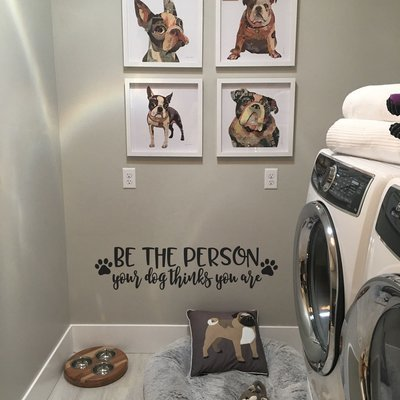 Be the person your dog thinks you are decal wall sticker sign TW253
