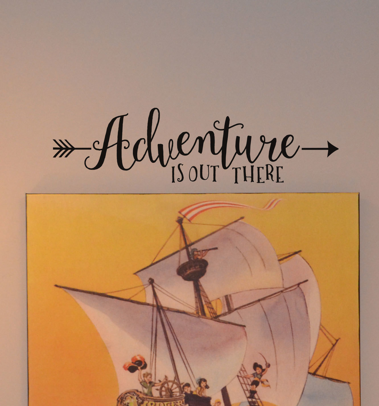 CLEARANCE Adventure is out there 23 x 6
