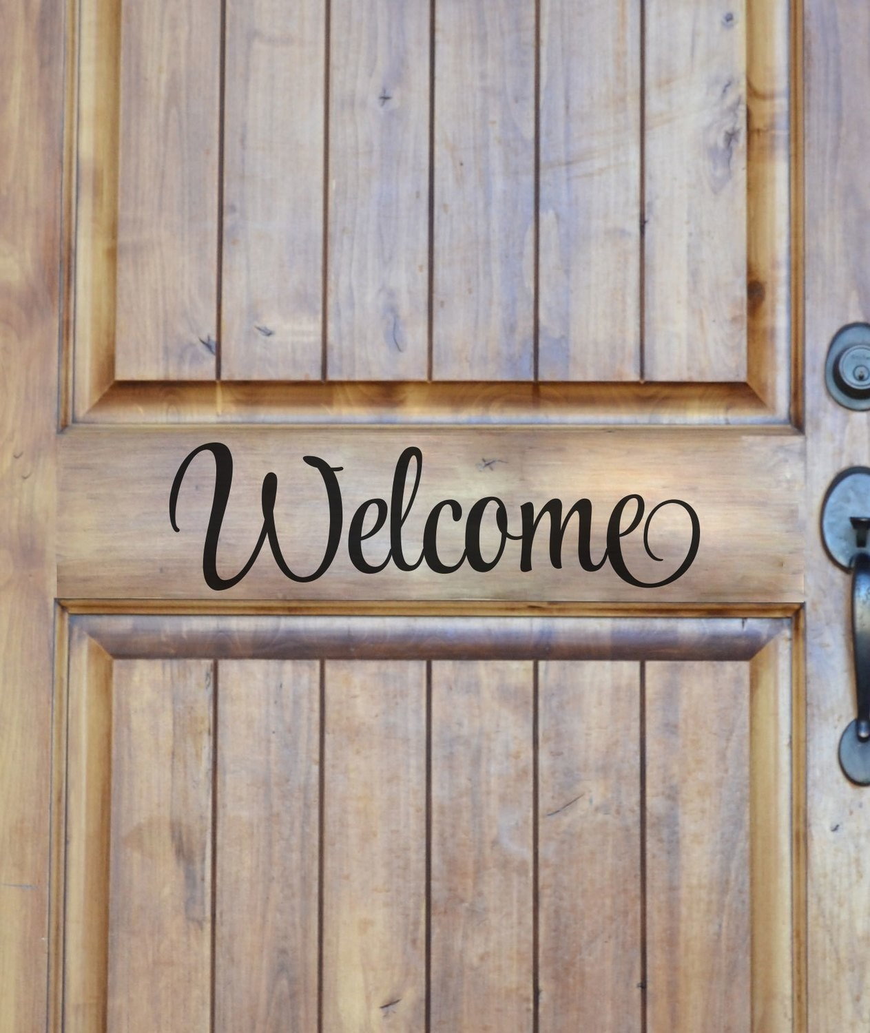 CLEARANCE Welcome 16 x 5 black decal wall sticker