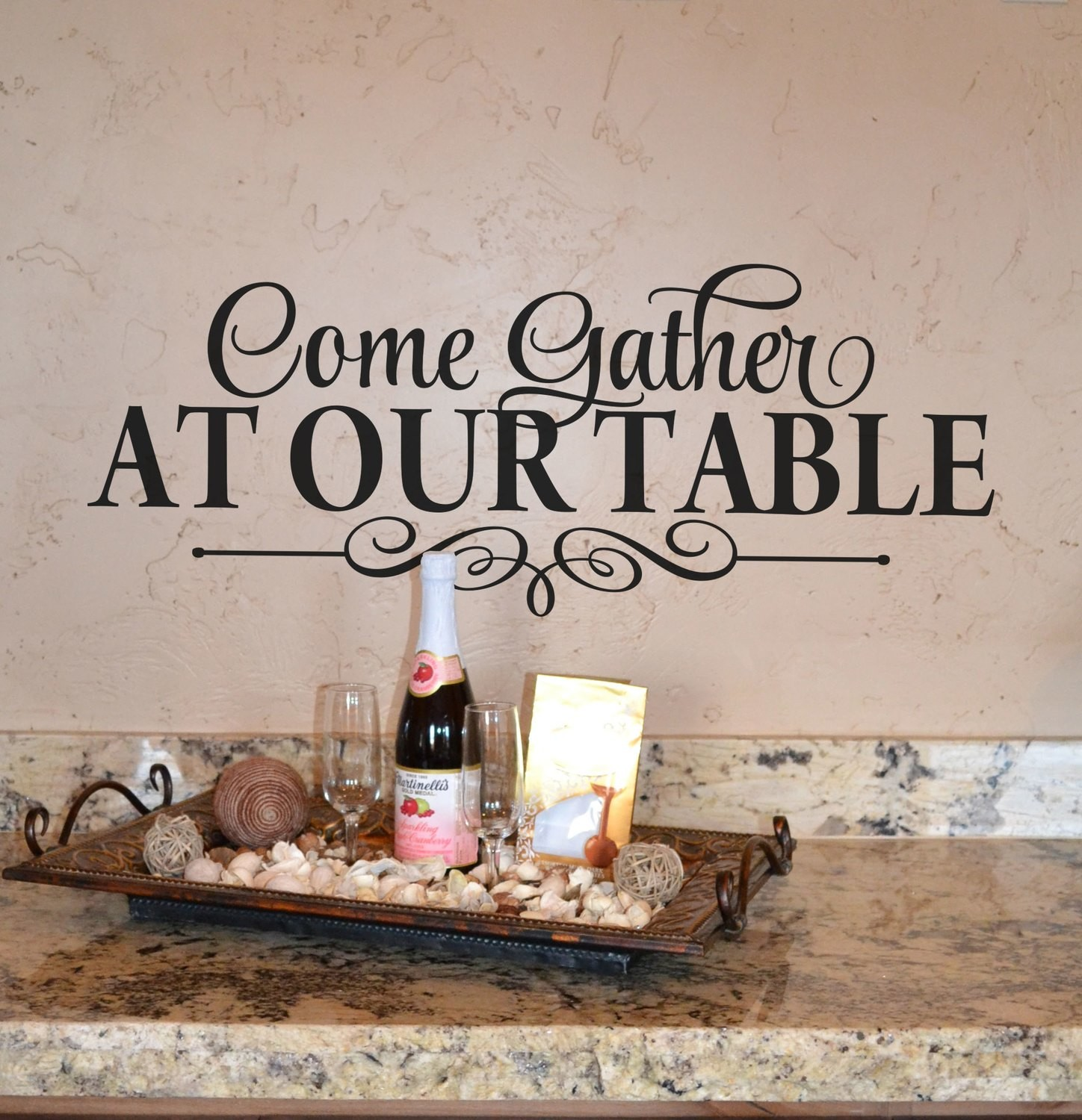 CLEARANCE Come gather at our table 22 x 8/12 in black